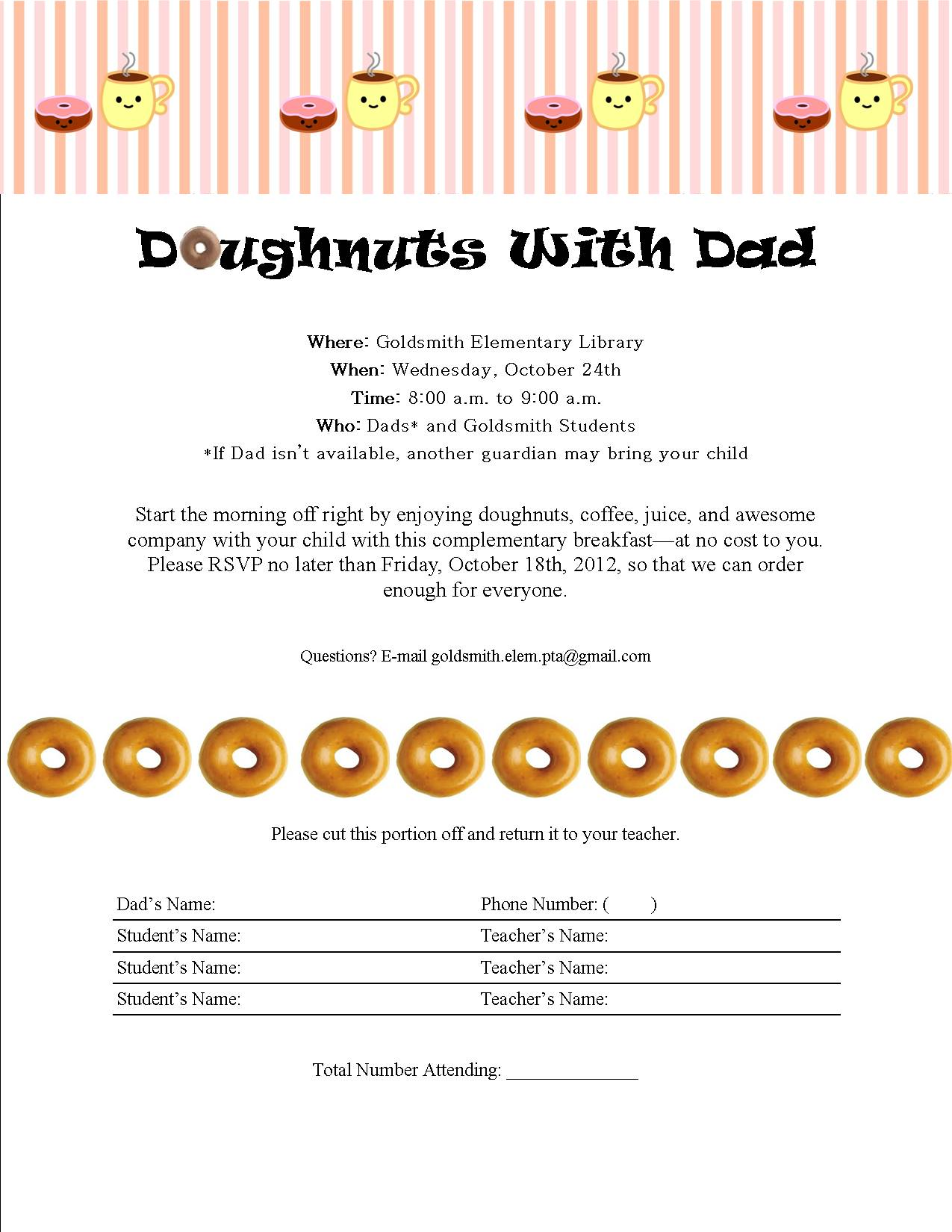 Doughnuts With Dad | Goldsmith Dolphins
