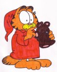 garfield_in_pjs