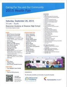 KY One Health Fair 2015