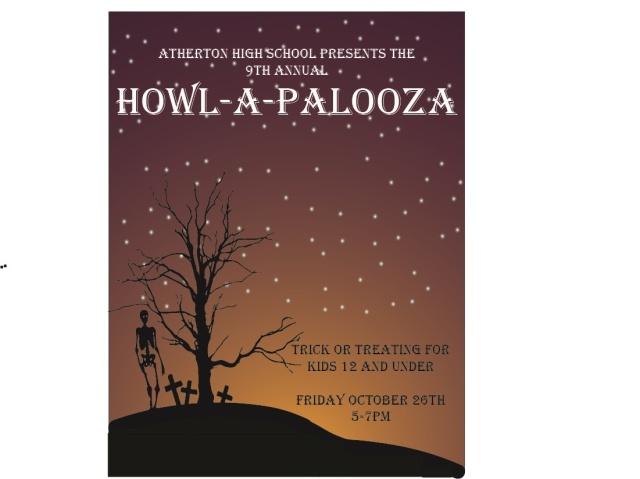 Atherton Howl-A-Palooza flyer 2018